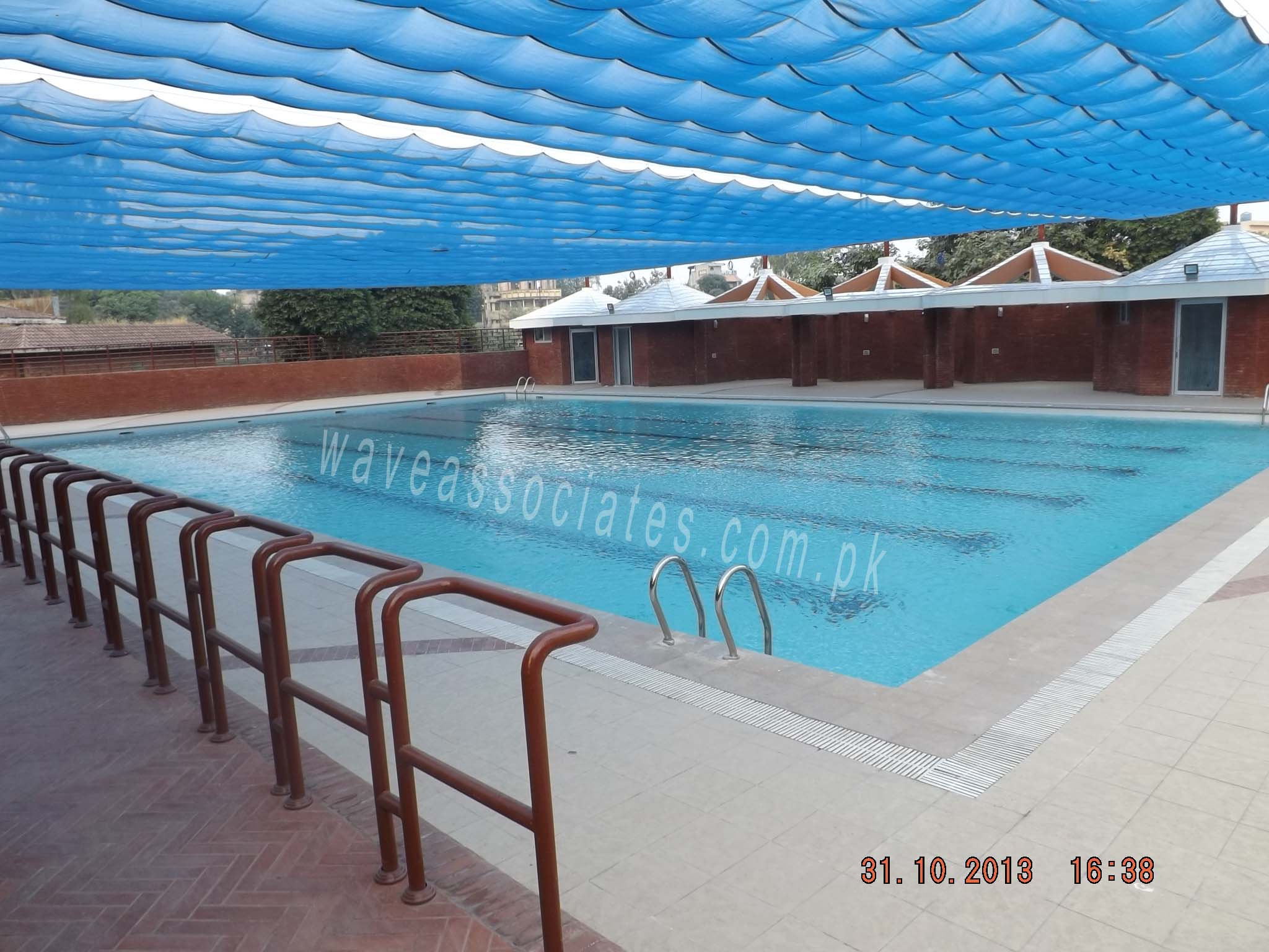 Wave associates samanabad sports complex for Sport swimming pool design