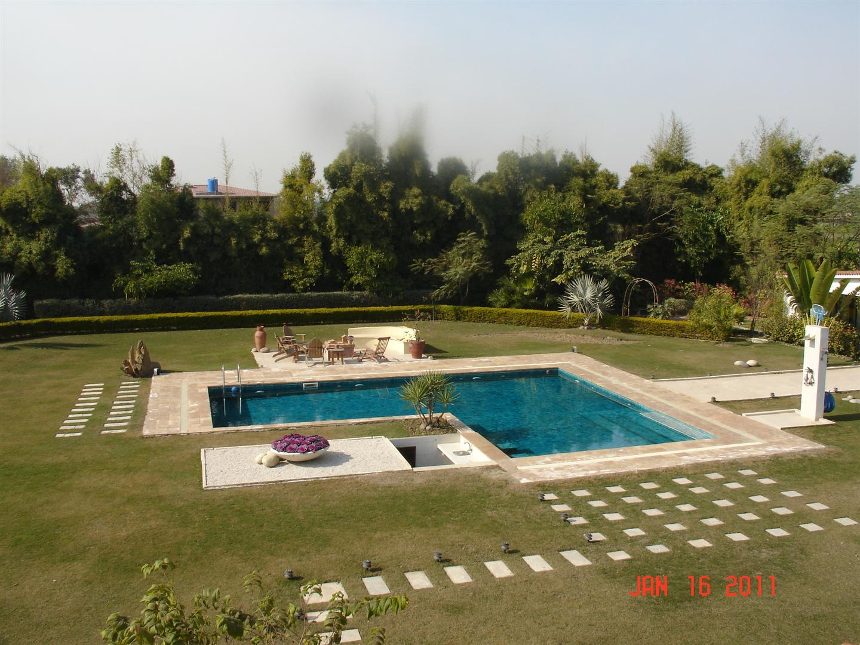 Wave associates farm house pool for Farmhouse with swimming pool
